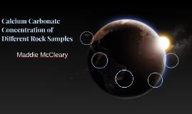 Calcium Carbonate Concentration in Different Rock Samples