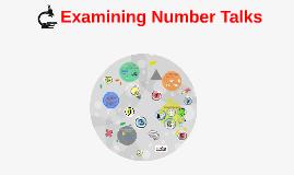 Copy of Copy of Examining Number Talks