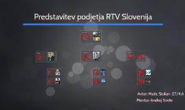 Predstavitev podjetja RTV Slovenija