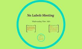 No Labels Meeting