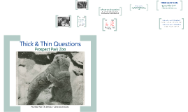 Prospect Park Zoo - Thick and Thin Questions