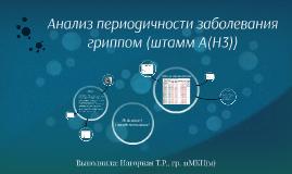 Анализ периодичности заболевания гриппом (штамм А(Н3))