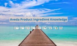 Aveda Product Ingredient Knowledge