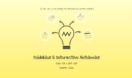 Copy of Foldables & Interactive Notebooks