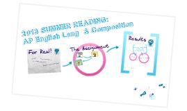 Rickard's AP Lang Summer Reading