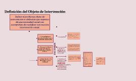 Definición del Objeto de Intervención