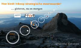 Hoe biedt inkoop strategische meerwaarde?