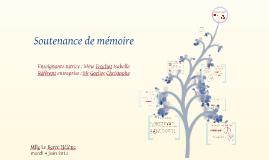 Copy of Soutenance mémoire