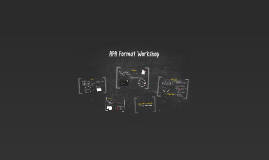 APA Format Workshop