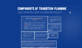Components of transition planning
