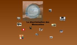 Le discrimination de les Mennonites