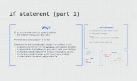 if statement (part 1)