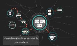 Normalización de un sistema de base de datos