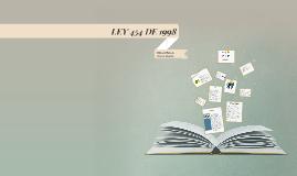 LEY 454 DE 1998