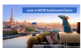 2018-19 WCW Auditioned Choirs Pre-Summer Orientation