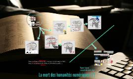 La mort des humanités numériques (?)