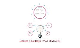 Dement & Kleitman (1957)