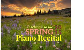 Spring 2015 Recital