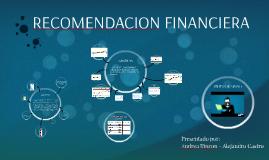 RECOMENDACION FINANCIERA