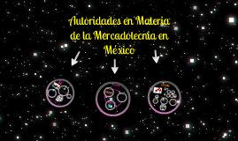 Autoridades en materia de la mercadotecnia en México