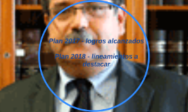 Lineamientos del Plan 2018