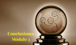 Conclusiones del módulo 3