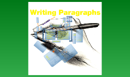 Copy of Writing Paragraphs