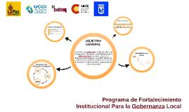 Programa de fortalecimiento institucional para la gobernanza