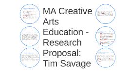 Research Proposal:  Tim Savage
