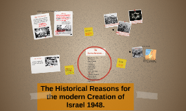 The Historical Reasons for the modern Creation of Israel 194
