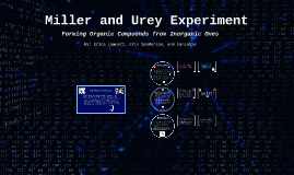 Miller and Urey Experiment