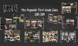 Miss Reynolds' First Grade Class