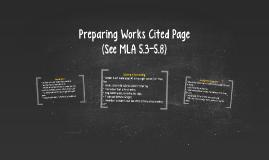 Preparing Works Cited Page