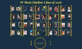 Pi Theta Epsilon: Class of 2016