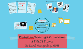 PhotoVoice Training & Orientation