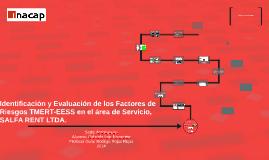 Identificación y Evaluación de los Factores de Riesgos TMERT