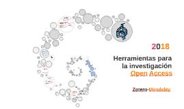2018 Herramientas para la investigación, Acceso Abierto