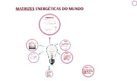 MATRIZES ENERGÉTICAS DO MUNDO