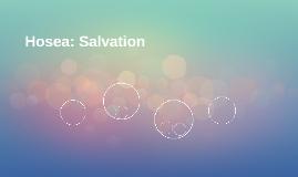 Hosea: Salvation