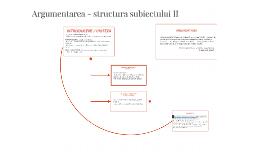Argumentarea - structura subiectului II