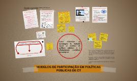 MODELOS DE PARTICIPAÇÃO EM POLÍTICAS PÚBLICAS DE CT_2015.2