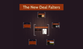 The New Deal Falters