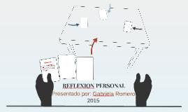 REFLEXION PERSONAL