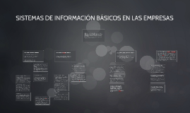 Sistemas de Informacion Basicos en las Empresas