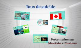 Taux de suicide