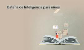 Batería de inteligencia para niños