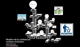 Medidor de la cantidad de residuos reciclados