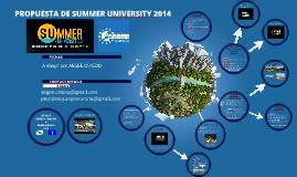 Copy of PROPUESTA SUMMER UNIVERSITY 2014
