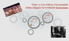 Tema 1.3. Las críticas a la economía clásica. Socialismo y Mar