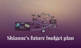 Shianne's future budget plan